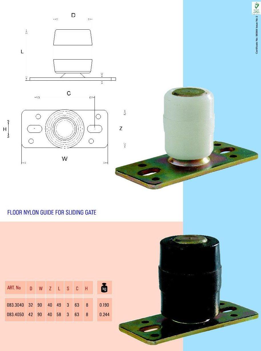 Role plastic cu fixare in podea pentru ghidaj poarta glisanta