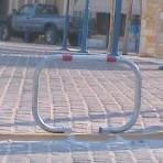Barierã de parcare pliabilã tip C, cu 2 puncte de sprijin
